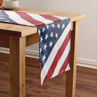 Personalized American Flag Table Runner