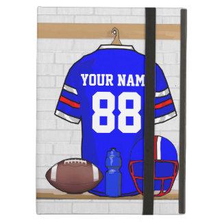 Personalized American Football Grid Iron jersey iPad Folio Cases