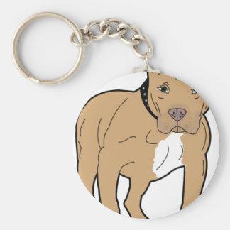 Personalized American Pitbull Dog Key Ring
