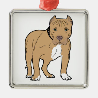 Personalized American Pitbull Dog Metal Ornament
