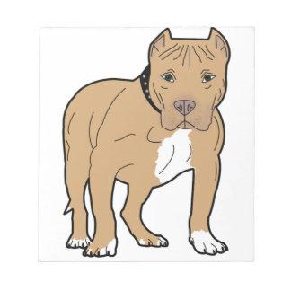 Personalized American Pitbull Dog Notepad