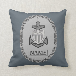 Personalized Anchor and Chain Throw Pillow