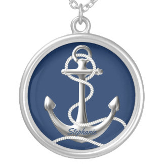 Personalized anchor necklace with your name