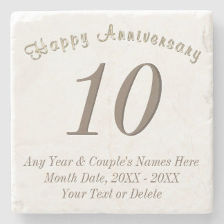 Personalized and Any Year Anniversary Gifts Stone Coaster