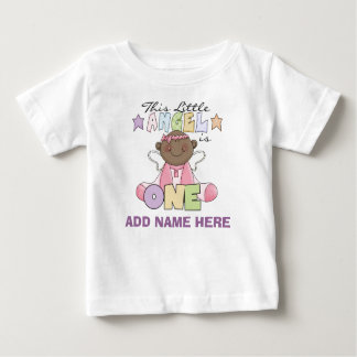 Personalized Angel Girl 1st Birthday Tshirt
