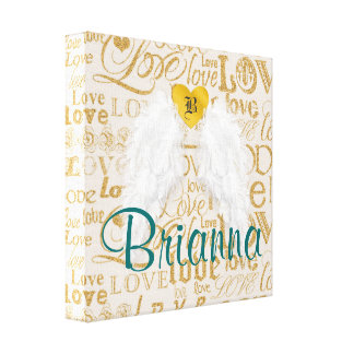 Personalized Angel Wings Canvas Print