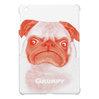 Personalized Angry Thug Pug iPad Mini Cases