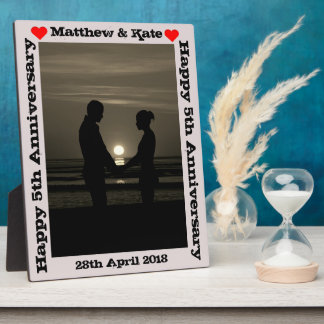 Personalized Anniversary Frame Photo Plaque