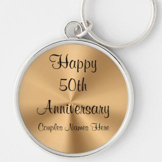 Personalized Anniversary Keychains with YOUR TEXT