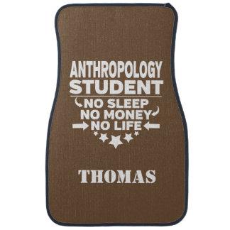 Personalized Anthropology Student No Sleep Money Floor Mat