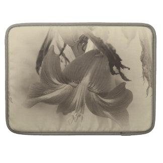 Personalized Antique Amaryllis Flower Sleeve For MacBook Pro