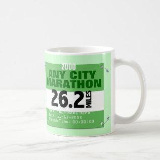 Personalized Any City Marathon, 26.2 Miles Race Coffee Mug