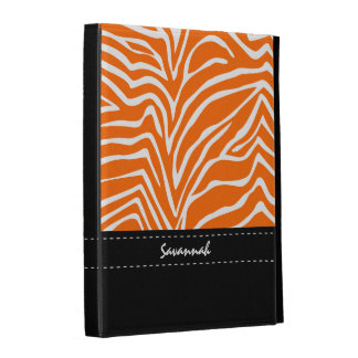 Personalized Any Color and Black Zebra iPad Case