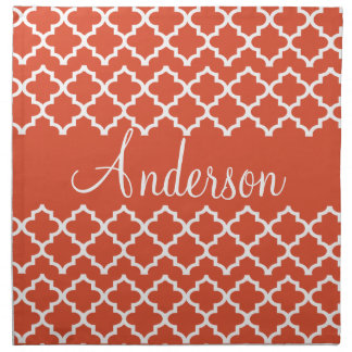 Personalized Any Color Moroccan Tile Pattern Cloth Napkin
