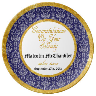 Personalized ANY YEAR  Sobriety Celebration Plate