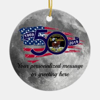 Personalized Apollo 11 50th Anniversary Ceramic Ornament