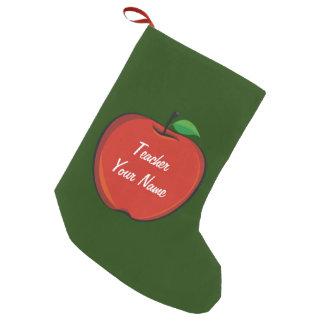 Personalized Apple Teacher Christmas Stocking