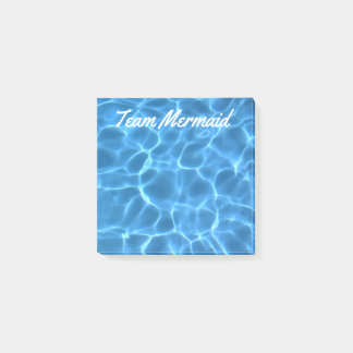 Personalized Aqua Blue Swimming Pool Post-it Notes