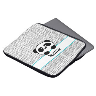 Personalized Aqua Panda Laptop Sleeve - 13 inch