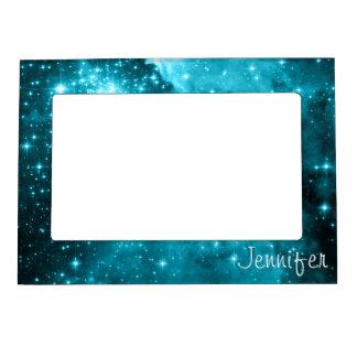 Personalized Aqua Stars Magnetic Frame