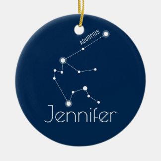 Personalized Aquarius Constellation Ornament