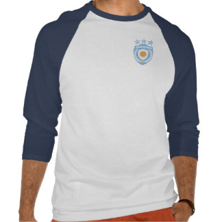 Personalized Argentina Sport Jersey 3/4 Sleeve Rag T Shirt