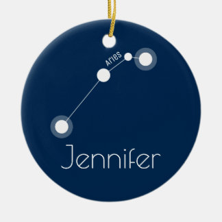 Personalized Aries Constellation Ornament
