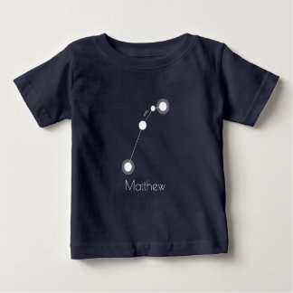 Personalized Aries Zodiac Constellation Baby T-Shirt