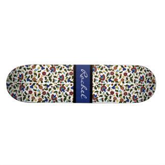 Personalized Armenian floral Girls Skateboard