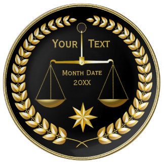 Personalized Attorney Gifts Porcelain Plates