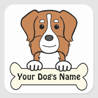 Personalized Australian Shepherd Square Sticker