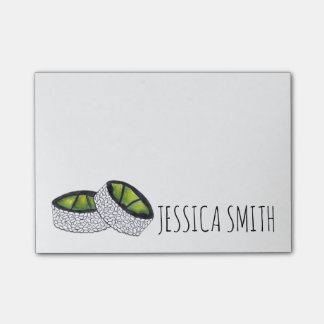 Personalized Avocado Sushi Japanese Food Post It Post-it Notes