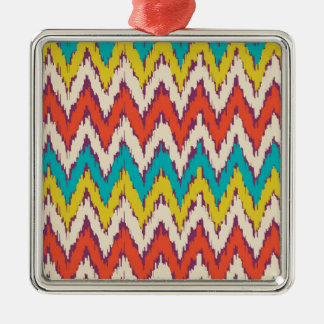 Personalized Aztec Tribal Ziz Zag Pattern Gifts Silver-Colored Square Decoration