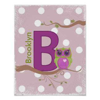 "Personalized ""B"" Poster"