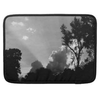 Personalized B&W Sun Rays at Sunset Sleeve For MacBooks