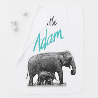 "Personalized Baby Boy Blanket ""Little Adam"""