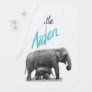 "Personalized Baby Boy Blanket ""Little Aiden"""