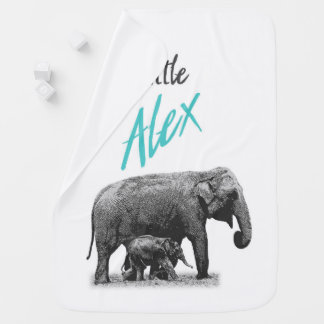 "Personalized Baby Boy Blanket ""Little Alex"""