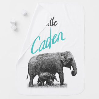 "Personalized Baby Boy Blanket ""Little Caden"""