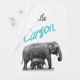 "Personalized Baby Boy Blanket ""Little Carson"""