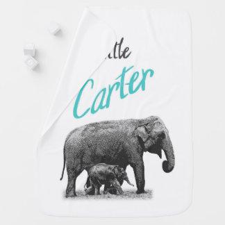 "Personalized Baby Boy Blanket ""Little Carter"""