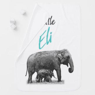 """Personalized Baby Boy Blanket """"Little Eli"""""""