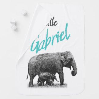 """Personalized Baby Boy Blanket """"Little Gabriel"""""""