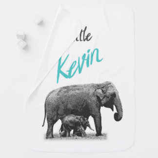 """Personalized Baby Boy Blanket """"Little Kevin"""""""