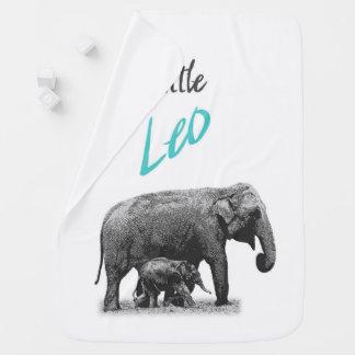 """Personalized Baby Boy Blanket """"Little Leo"""""""