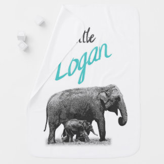 "Personalized Baby Boy Blanket ""Little Logan"""