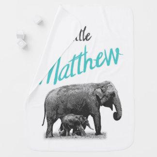 """Personalized Baby Boy Blanket """"Little Matthew"""""""