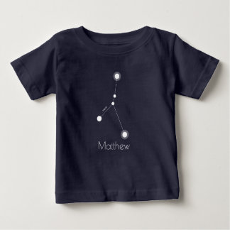 Personalized Baby Cancer Zodiac Constellation Baby T-Shirt