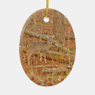 personalized Baby Deer's First  winter Ceramic Ornament