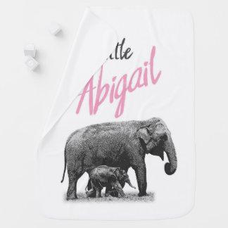 "Personalized Baby Girl Blanket ""Little Abigail"""